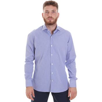 textil Herr Långärmade skjortor Les Copains 20P.621 P3196SL Blå