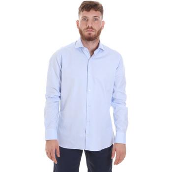 textil Herr Långärmade skjortor Les Copains 20P.887 P3196SL Blå