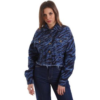 textil Dam Jeansjackor Versace C0HVB939AQC5Q904 Blå