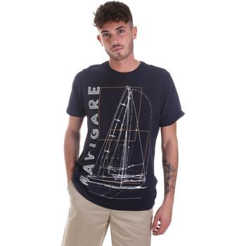 textil Herr T-shirts Navigare NV31109 Blå