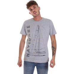 textil Herr T-shirts Navigare NV31109 Grå
