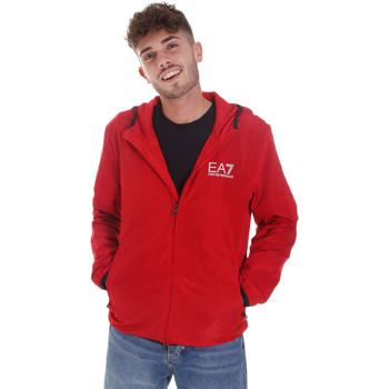 textil Herr Sweatjackets Ea7 Emporio Armani 8NPB04 PNN7Z Röd