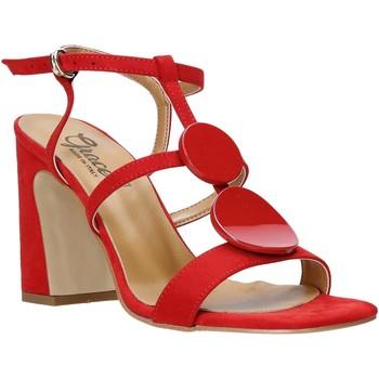 Skor Dam Sandaler Grace Shoes 2384008 Röd