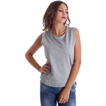 textil Dam Linnen / Ärmlösa T-shirts Fornarina BE17T524F42990 Grå