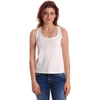 textil Dam Linnen / Ärmlösa T-shirts Fornarina BE175L04JG0709 Vit