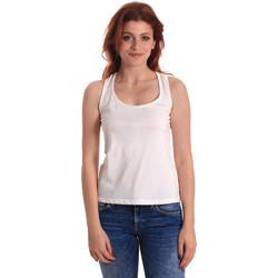 textil Dam Linnen / Ärmlösa T-shirts Fornarina SE175L04JG0709 Vit
