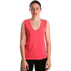 textil Dam Linnen / Ärmlösa T-shirts Converse 10017502-A01 Rosa