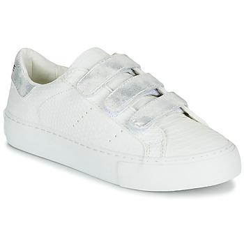 Skor Dam Sneakers No Name ARCADE STRAPS Vit / Silverfärgad