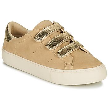 Skor Dam Sneakers No Name ARCADE STRAPS Beige / Guldfärgad