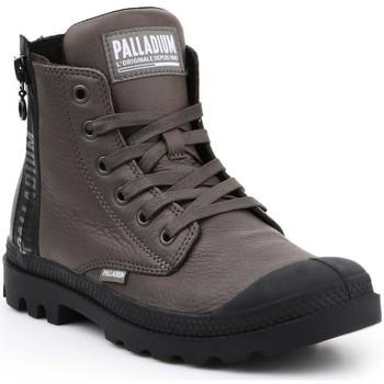 Skor Dam Höga sneakers Palladium Manufacture Pampa UBN ZIPS 96857-213-M brown