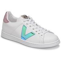 Skor Dam Sneakers Victoria TENIS VEGANA VINI Vit / Blå / Rosa