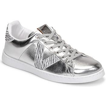 Skor Dam Sneakers Victoria TENIS METALIZADO Silver