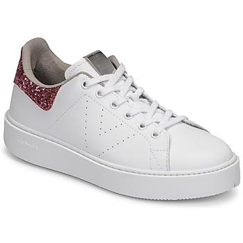 Skor Dam Sneakers Victoria UTOPIA GLITTER Vit / Rosa