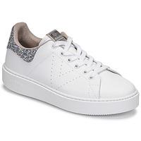 Skor Dam Sneakers Victoria UTOPIA GLITTER Vit / Silver