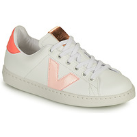 Skor Flickor Sneakers Victoria TENIS VEGANA CONTRASTE Vit / Rosa