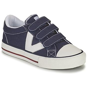 Skor Pojkar Sneakers Victoria TRIBU TIRAS LONA Blå
