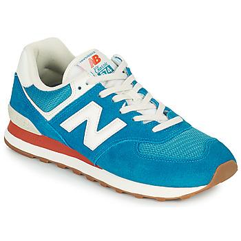 Skor Herr Sneakers New Balance 574 Blå / Vit