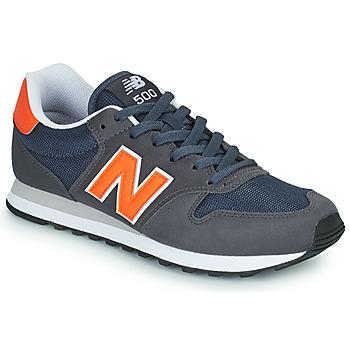 Skor Herr Sneakers New Balance 500 Blå / Orange