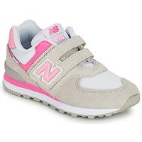 Skor Flickor Sneakers New Balance 574 Grå / Rosa