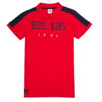 textil Pojkar Kortärmade pikétröjor Redskins PO180117-RED Röd