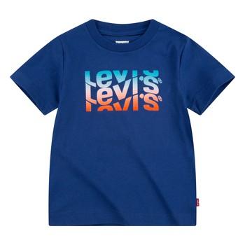 textil Pojkar T-shirts Levi's 9EC826-U29 Marin