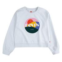 textil Flickor Sweatshirts Levi's 3ED410-001 Vit