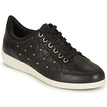 Skor Dam Sneakers Geox D MYRIA H Svart