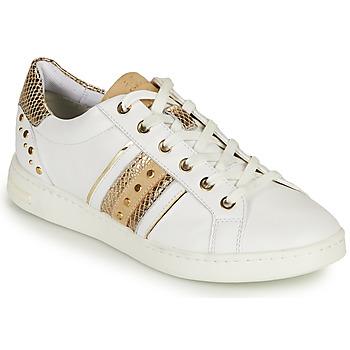 Skor Dam Sneakers Geox D JAYSEN A Vit / Guldfärgad