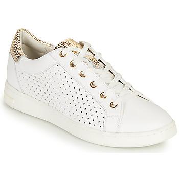 Skor Dam Sneakers Geox D JAYSEN B Vit / Guldfärgad
