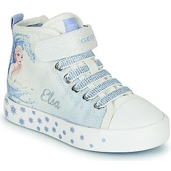 Skor Flickor Höga sneakers Geox JR CIAK GIRL Vit / Blå