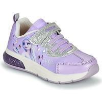Skor Flickor Sneakers Geox SPACECLUB GIRL Violett