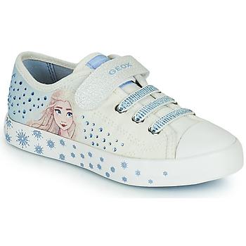 Skor Flickor Sneakers Geox JR CIAK GIRL Vit / Blå