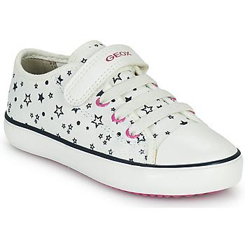 Skor Flickor Sneakers Geox GISLI GIRL Vit