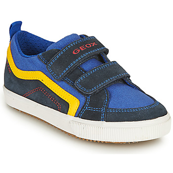 Skor Pojkar Sneakers Geox ALONISSO BOY Marin / Gul