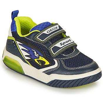 Skor Pojkar Sneakers Geox J INEK BOY B Marin / Gul