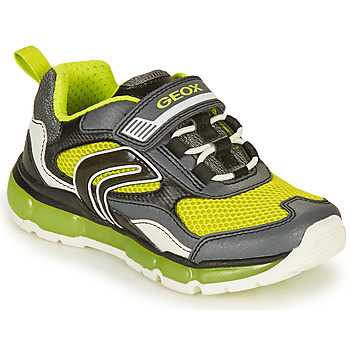 Skor Pojkar Sneakers Geox ANDROID BOY Grå / Lime