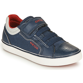 Skor Pojkar Sneakers Geox GISLI BOY Marin / Röd