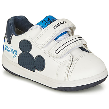 Skor Pojkar Sneakers Geox NEW FLICK BOY Vit / Blå