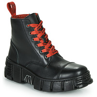 Skor Boots New Rock M-WALL005-C19 Svart / Röd