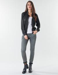 textil Dam Skinny Jeans G-Star Raw 3301 Low Skinny Wmn Persikofärgad