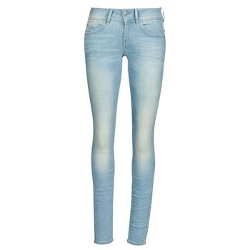 textil Dam Skinny Jeans G-Star Raw Lynn Mid Skinny Wmn Blå