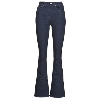 textil Dam Bootcutjeans G-Star Raw 3301 High Flare Wmn Rinsed