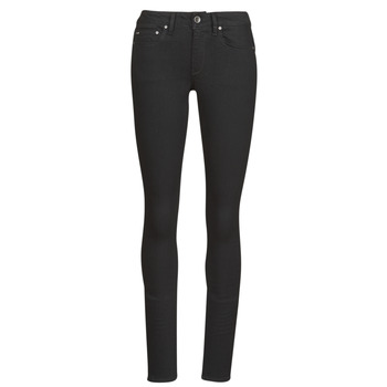 textil Dam Skinny Jeans G-Star Raw Midge Zip Mid Skinny Wmn Pitch / Svart