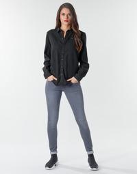 textil Dam Skinny Jeans G-Star Raw Lynn d-Mid Super Skinny Wmn Blå