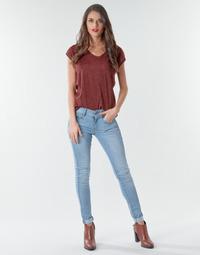 textil Dam Skinny Jeans G-Star Raw Lynn Mid Skinny Wmn NEW Blå