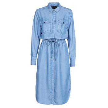 textil Dam Långklänningar G-Star Raw Rovic maxi shirt dress ls Blå