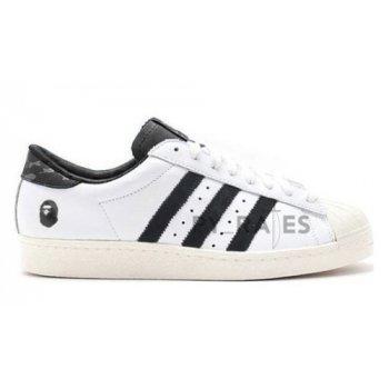 Skor Höga sneakers adidas Originals Bape x adidas Superstar Footwear White/Core Black-Off-White