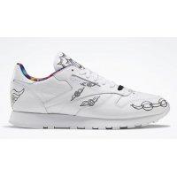 Skor Höga sneakers Reebok Classic Reebok Classic Leather ?Peace Train? White/Black-White