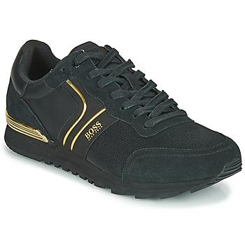 Skor Herr Sneakers BOSS ARDICAL RUNN NYMX2 Svart / Guldfärgad