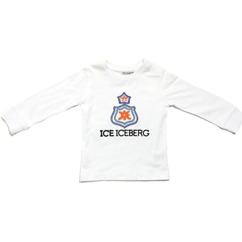 textil Pojkar Långärmade T-shirts Iceberg TSICE0316B Bianco